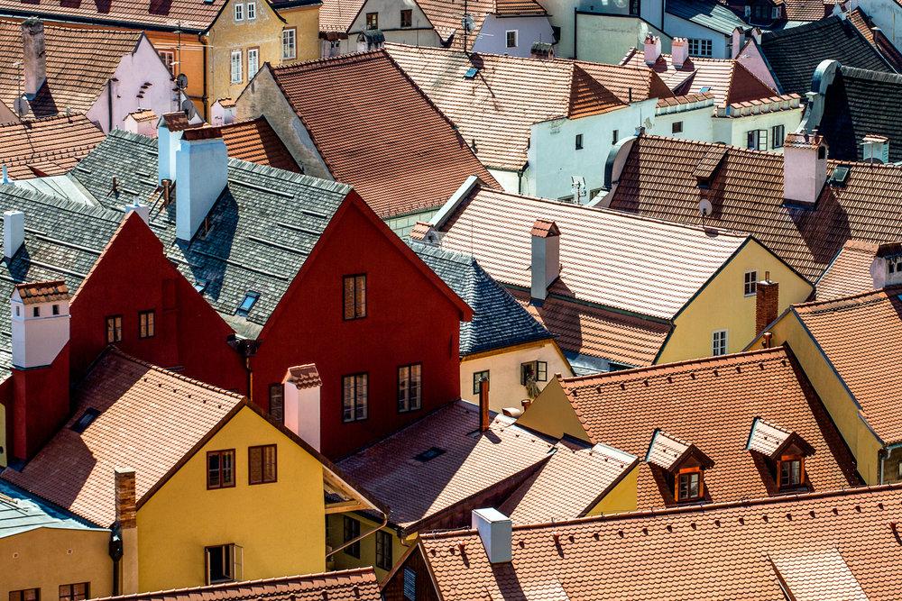 Roof Top Patterns Cesky Krumlov, Czech Republic