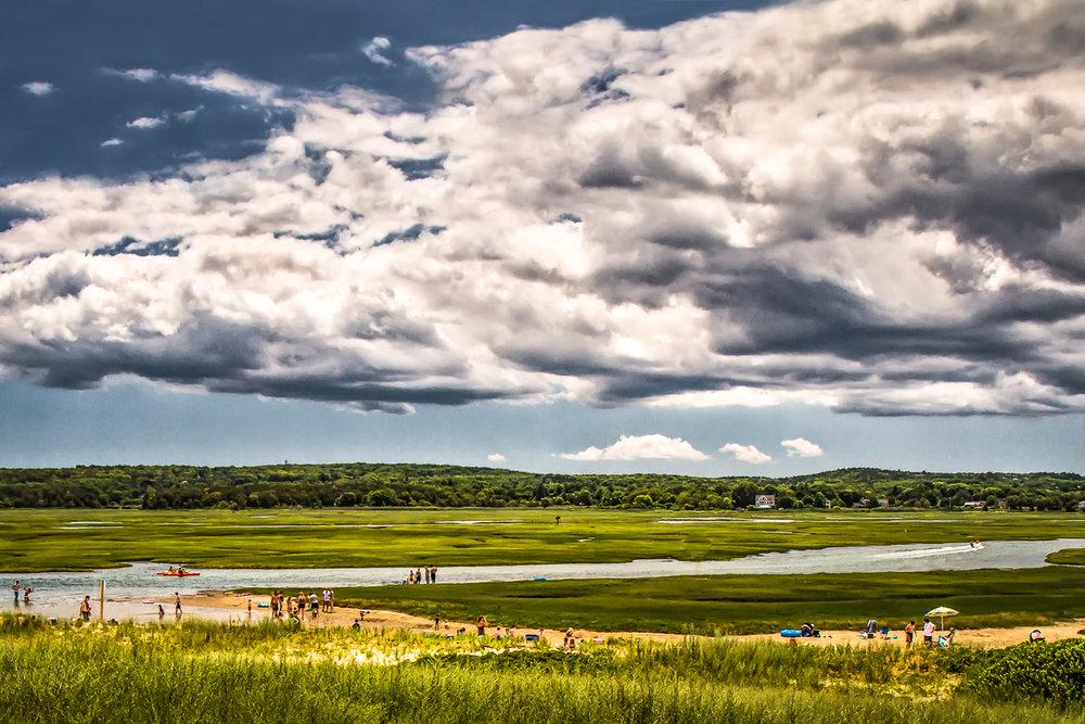 Clouds Over The Creek Sandwich, Massachusetts