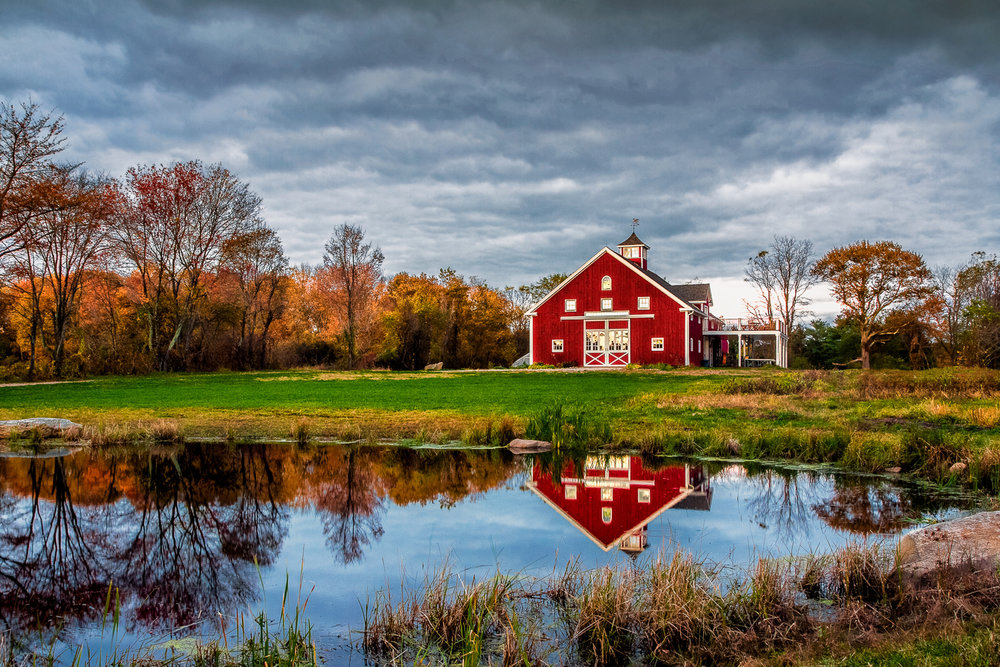 Red Barn Reflect Sherborn, Massachusetts