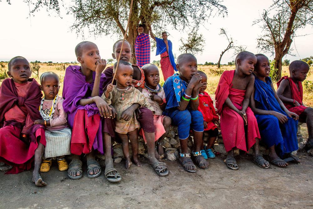 Masai School Children Serengeti, Tanzania