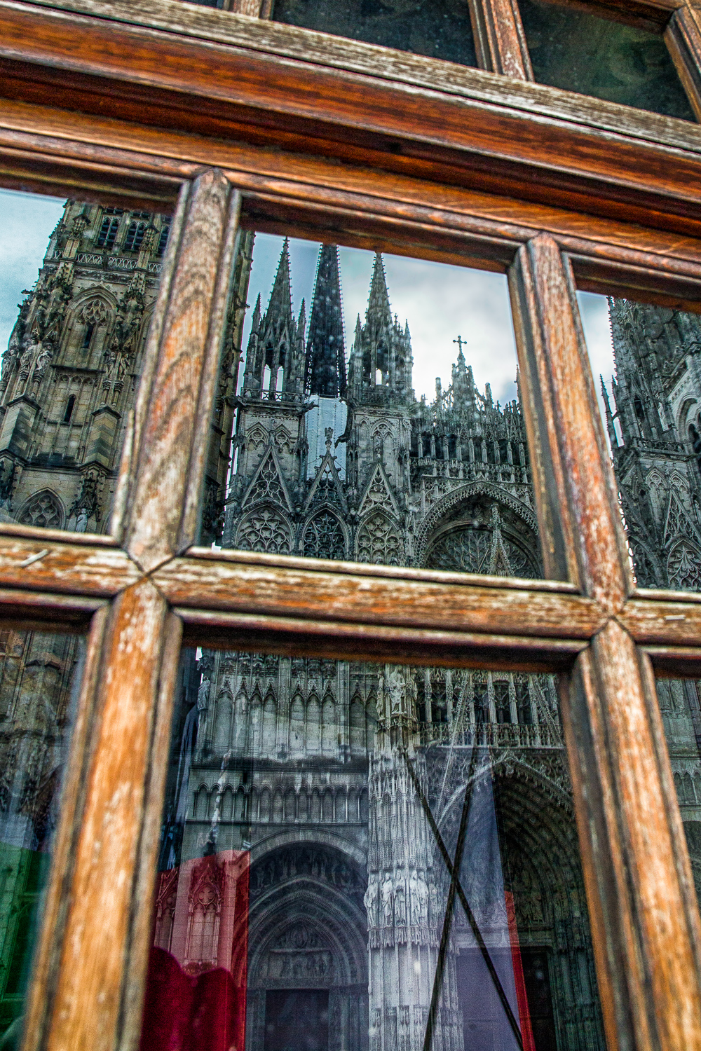 Rouen Cathedral Reflected Rouen, Normandy, France