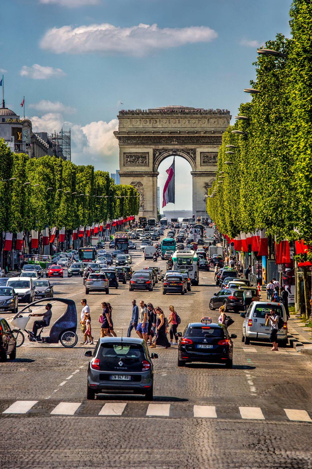 Arc-de-Triomphe, Champs-Elysees Paris, France