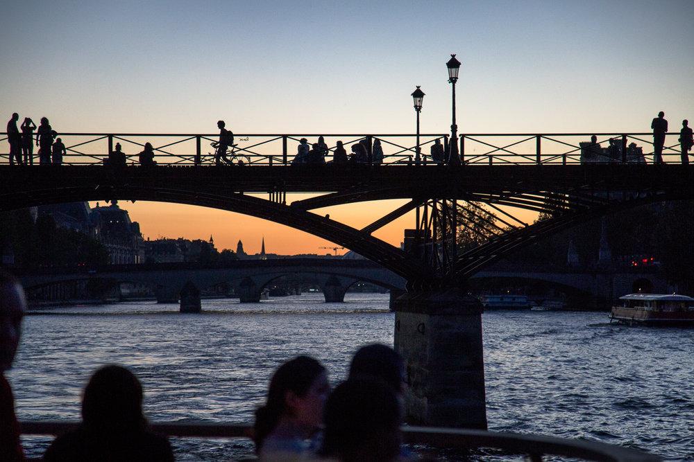 Bridge Over Seine, Sunset Paris, France