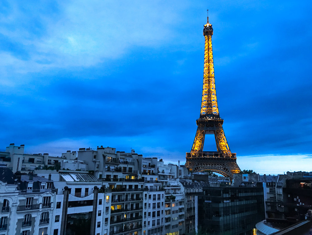 Eiffel Tower In Blue Twilight Paris, France