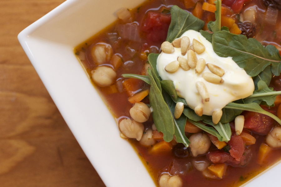 chickpea and preserved lemon stew//wanderaven