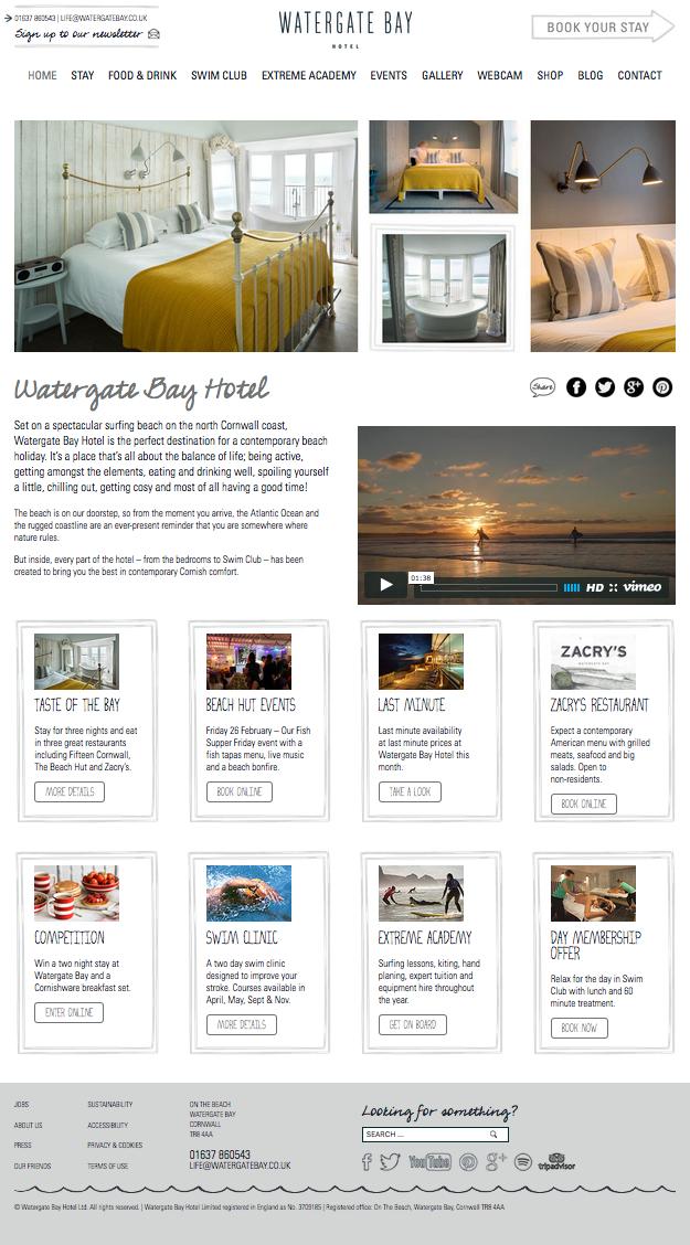 Watergate Bay Hotel Cornwall Video Marketing