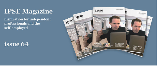 Steve Folland IPSE magazine Being Freelance interview cover