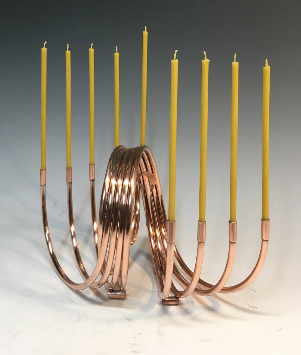 Intimate modern menorah
