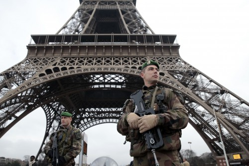 French troops guard tourist and culturally sensitive sites in France.