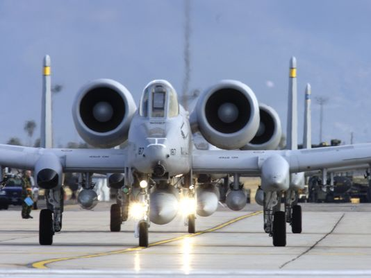 Twelve A-10s and about 300 airmen are deploying to Spangdahlem Air Base, Germany, as part of the Air Force's first theater security package to Europe. (Photo: Senior Airman Jesse Shipps/Air Force)