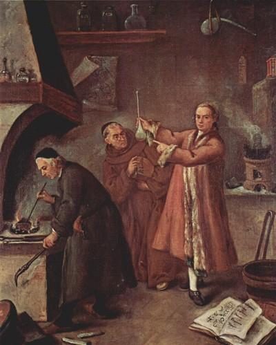 The Alchemist by Pietro Longhi (Wikimedia Commons)