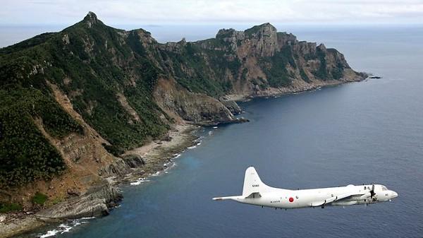 A Japanese Maritime Self-Defense Force's P-3C patrols the Senkaku Islands. (AP)