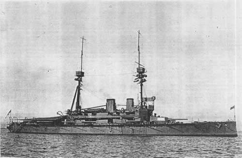 Agamemnon took part in all bombardments of Turkish fortresses in Dardanelles in spring 1916 and was struck by more than 50 projectiles, including 14'' stone shot.