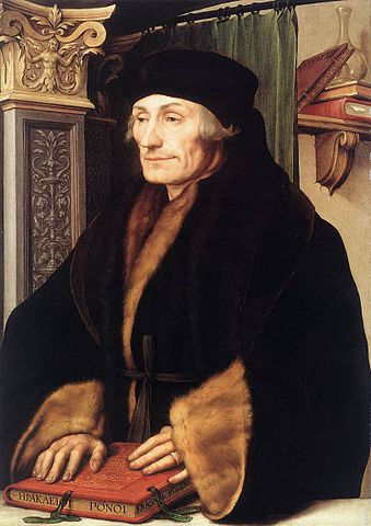 Desiderius Erasmus, painted by Hans Holbein the Younger