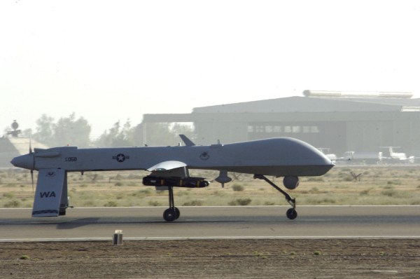 MQ-1 Predator at Balad Air Base, Iraq, Photo courtesy: Wikimedia Commons, U.S. Air Force Airman 1st Class Andrew Oquendo