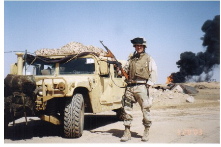 Stanton S. Coerr in the Ramaylah Oil Fields, Southern Iraq. March 2003.