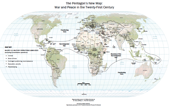 The New Map…The Non-Integrating Gap aligns with U.S. Operations over the past 30 years