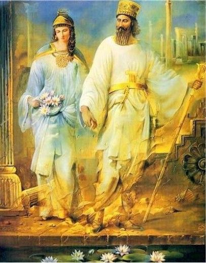 Grand Admiral Artemisia I and Shahanshah Xerxes I
