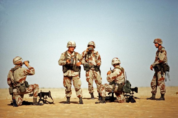82nd Airborne Troops in Desert Storm