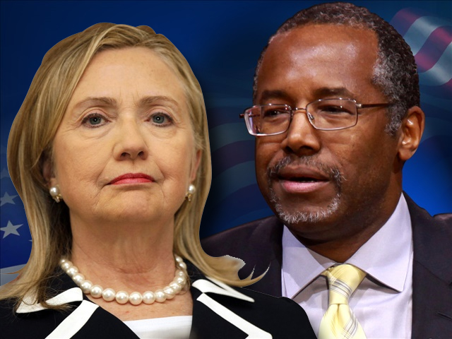 Hillary Clinton and Ben Carson (Tom Norde & Gage Skidmore)