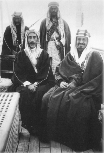 King Ibn Saud and King Faisal in 1922.