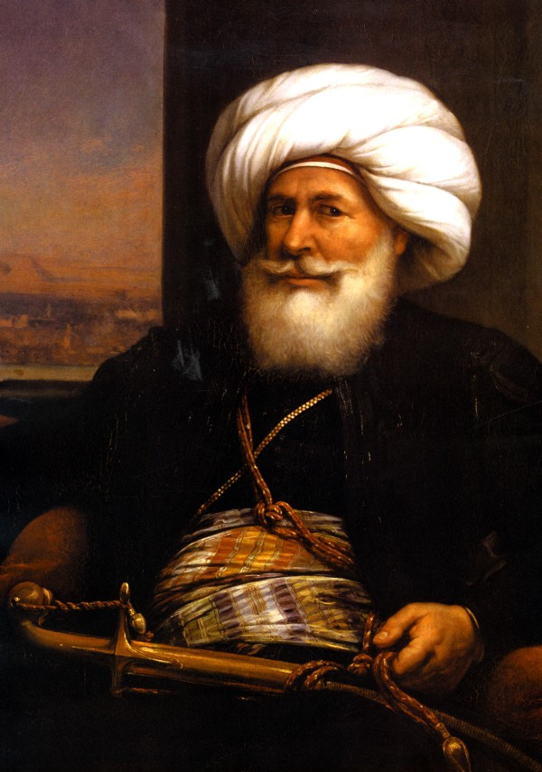 An 1840 portrait of Muhammad Ali Pasha by Auguste Couder.