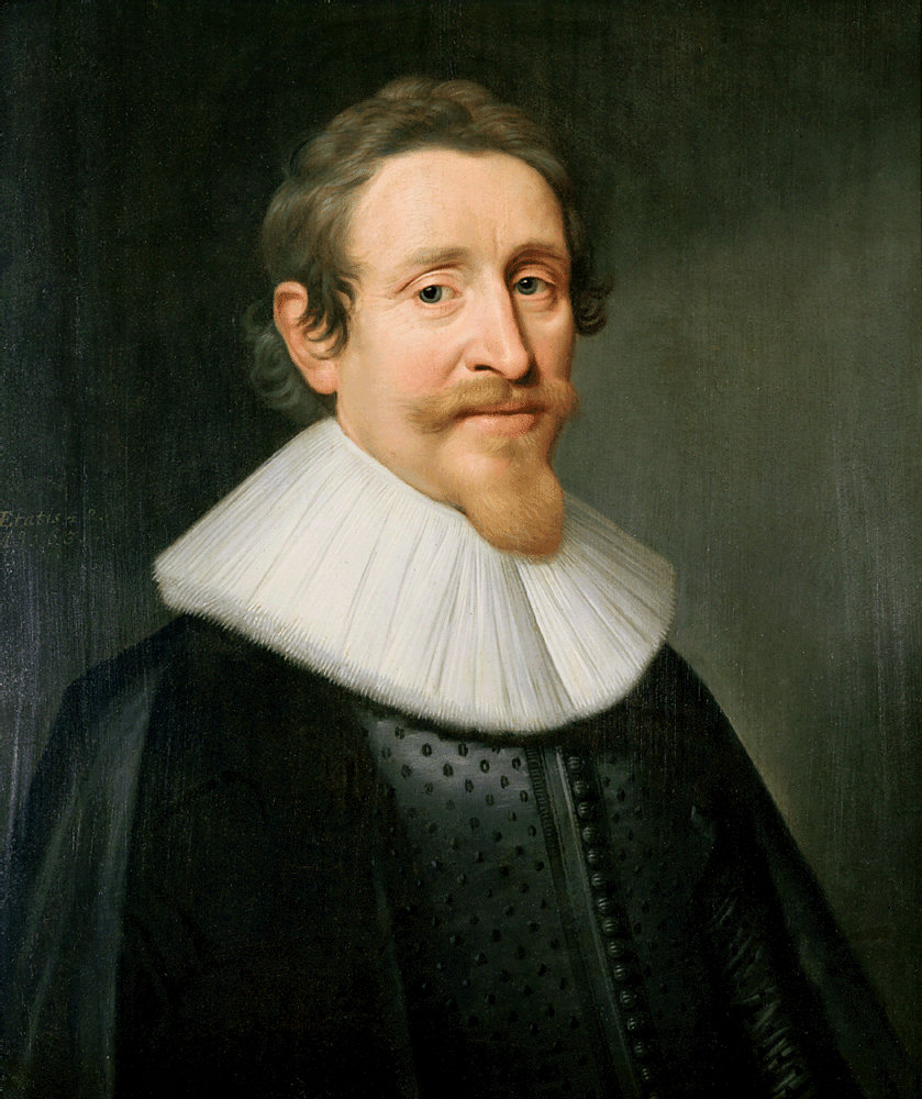 Portrait of the Dutch lawyer and statesman Hugo de Groot, also known as Hugo Grotius, by Michiel van Miereveld (Public Domain)