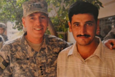 Abu Abed with General Petraeus, 2007 (Photo courtesy Sa'ad Ghaffoori