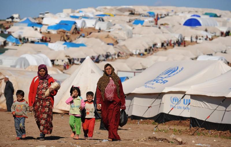 Syrian Refugees at a UN Cam