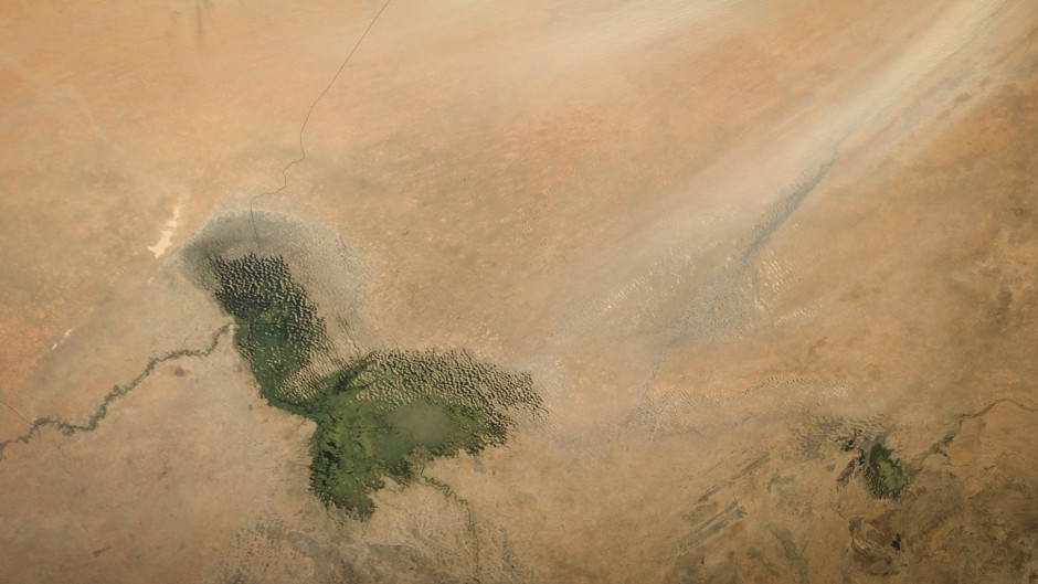 The remnants of Lake Chad. (NASA Goddard Space Flight Center)