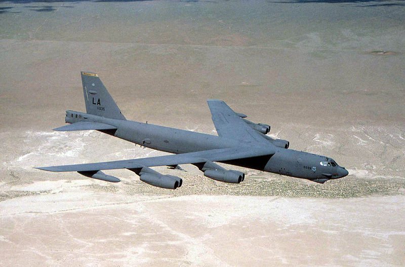 The B-52 has been in active service with the USAF since 1955. Built as a long-range strategic bomber, it was  recently deployed  in support of operations against the Islamic State. (U.S. Air Force Photo)