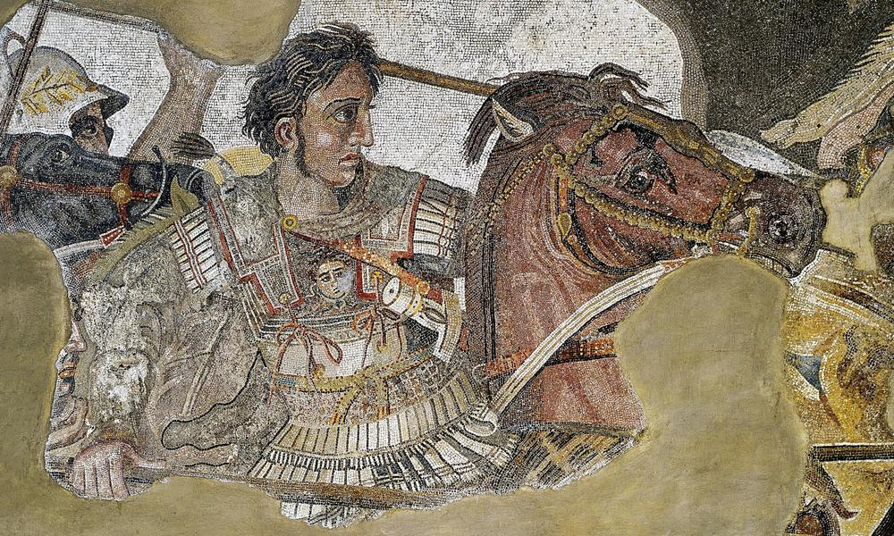 Detail of the  Alexander Mosaic  showing Alexander the Great. (Public Domain)