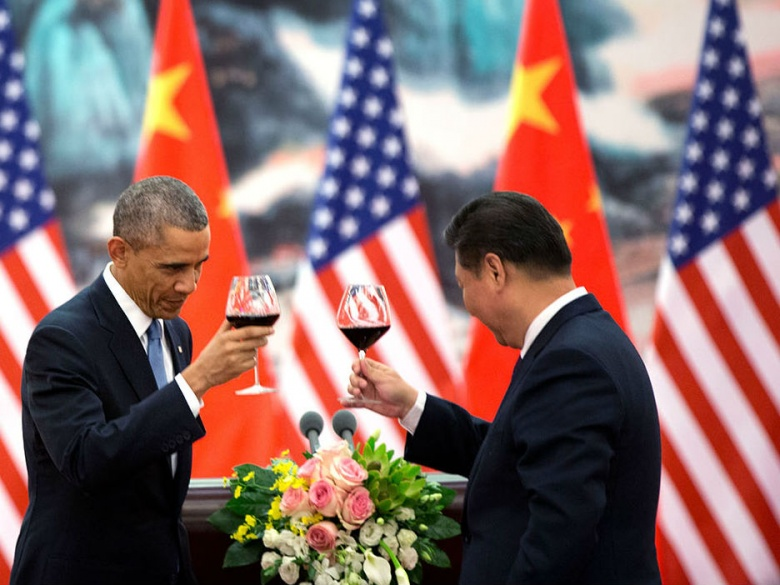 President Barack Obama and Secretary Hu Jintao (Pete Souza)