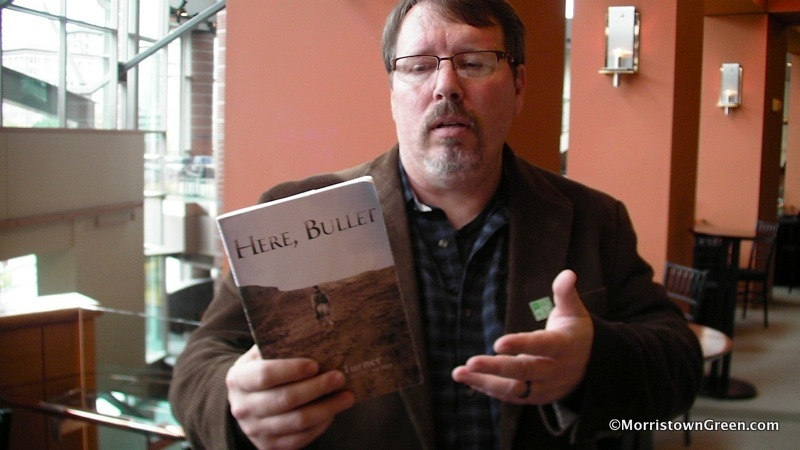 "Brian Turner, author of  Here, Bullet.  ""I have no words to speak of war."" (Kevin Coughlin)"