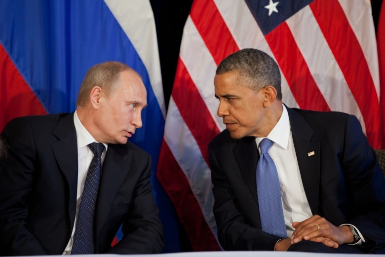 President Barack Obama with Russia's President Vladimir Putin (Reuters)