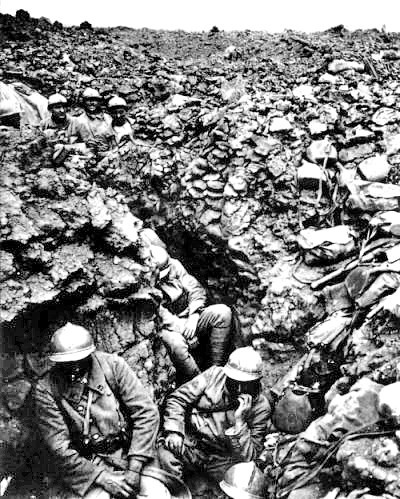 French regiment on Cote 304 at Verdun—a hill that Barthas came to know well.
