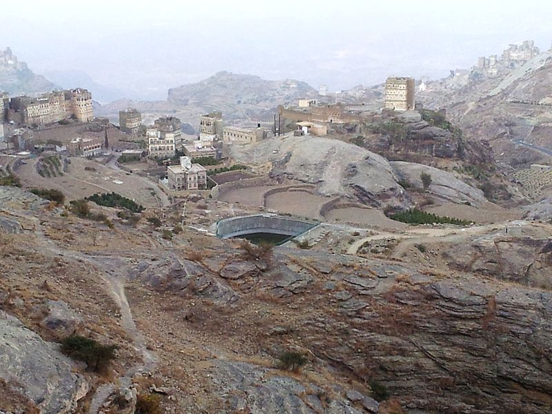 A water reservoir in Haraz, Yemen (Mufaddalqn,  Wikimedia Commons )