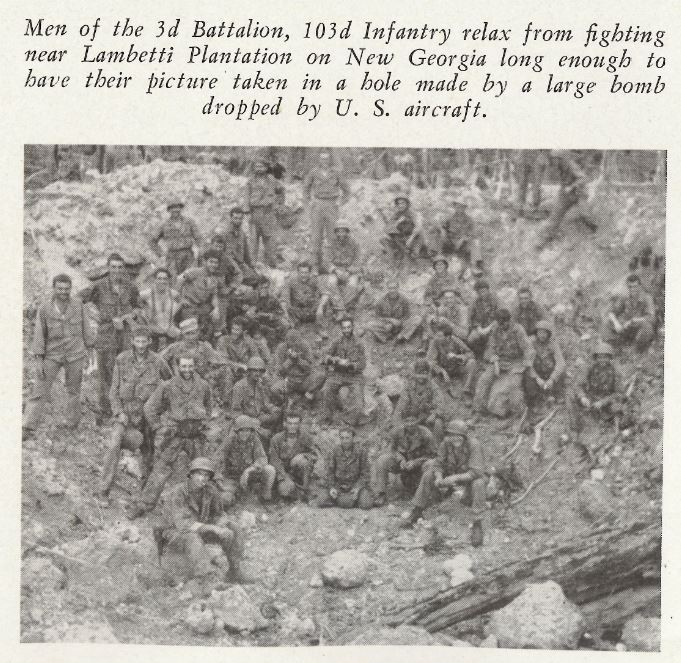 Source: The History of the 43rd Infantry Division, 1941–1945, Joseph E. Zimmer