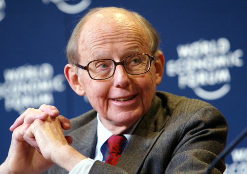 Samuel P. Huntington at the 2004 meeting of the World Economic Forum in Davos, Switzerland (Peter Lauth, World Economic Forum, Creative Commons)