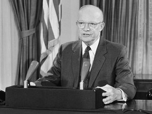 In his final speech from the White House, President Eisenhower warned of a military-industrial complex and its effects. (Bill Allen, AP)