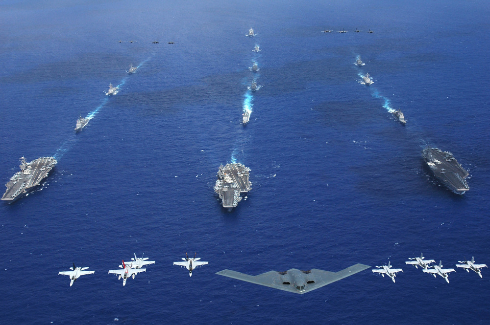 Planes and ships from the Air Force, Navy, and Marine Corps move together in Exercise Valiant Shield 2006 | U.S. Navy