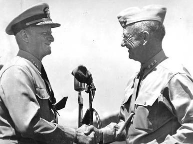 Admiral Chester Nimitz and Lieutenant General Holland Smith