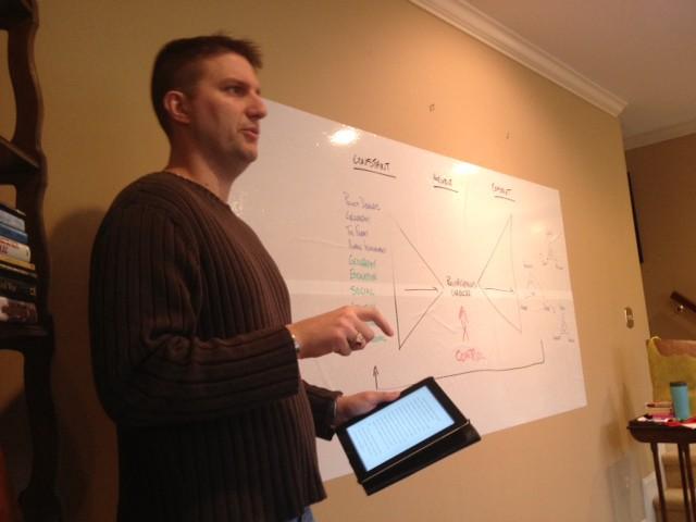 """Rich Ganske presenting on J.C. Wylie's """"Theory of Control"""""""