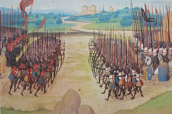 The Battle of Agincourt from the Chroniques d'Enguerrand de Monstrelet