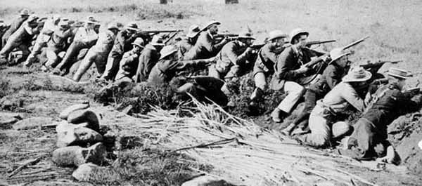 Boer soldiers fighting the British in South Africa
