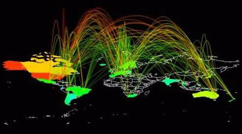 Artist's depiction of cyberspace, Feb 2011 via Cameroon's Ministry of Defense