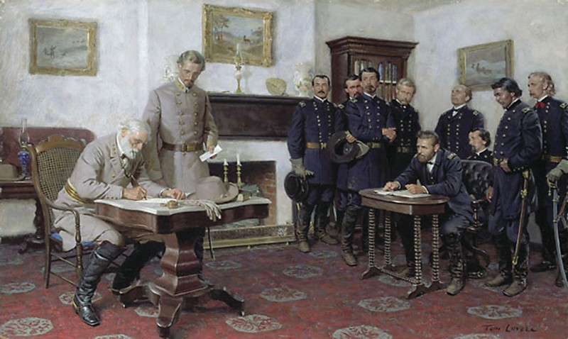 Grant and Lee at Appomattox | Tom Lovell