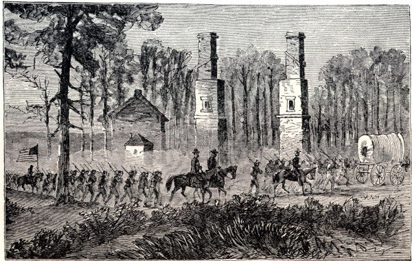 General Sherman marching out of Atlanta