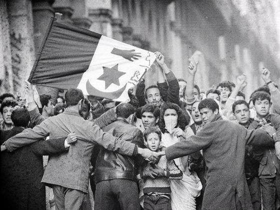 Algerian nationalists gather before the Sétif and Guelma massacre, May 8, 1945. (Wikimedia)