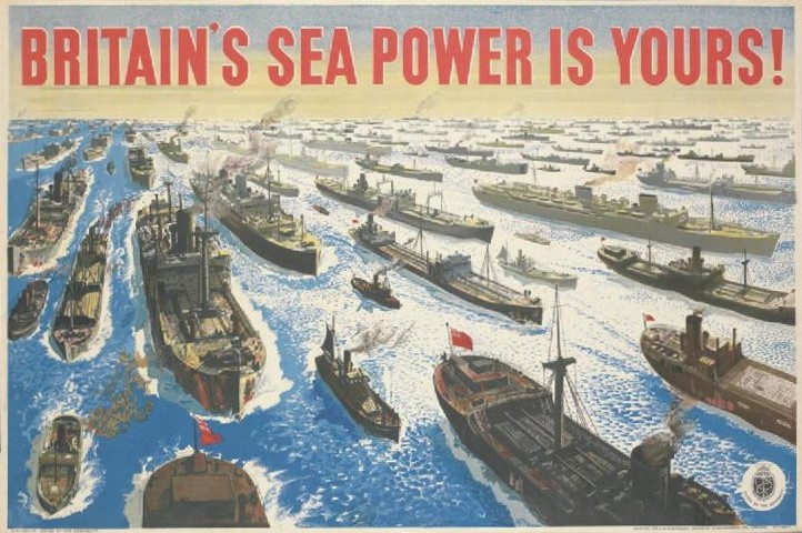 Admiralty poster from WWI (Imperial War Museum)